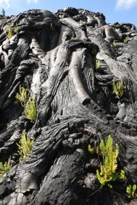 Textures of lava in Hawaii volcanoes national park, Big island, Hawaii